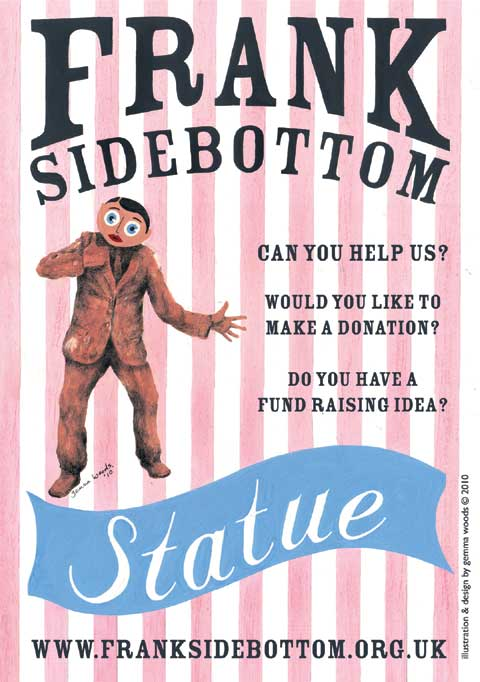 get the frank sidebottom statue poster